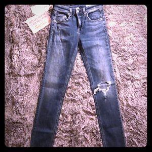 Rag & bone - high rise skinny jeans
